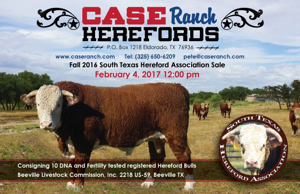 Feb 2017 Hereford Sale Ad - Case Ranch Herefords