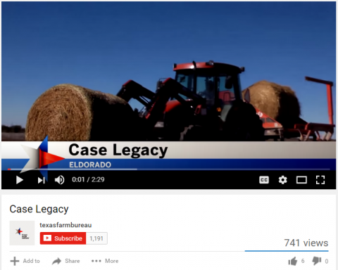 Case Ranch, Case Legacy, Texas Farm Bureau